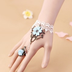 Lovely Fabric With Lace Women's Fashion Bracelets (Sold in a single piece)