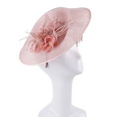 Ladies' Unique/Exquisite/Eye-catching Cambric With Feather/Flower Fascinators/Kentucky Derby Hats/Tea Party Hats
