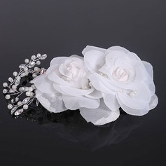 Elegant Crystal/Imitation Pearls/Silk Flower Combs & Barrettes (Sold in single piece)