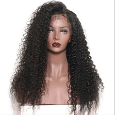 5A Virgin/remy Loose Wavy Human Hair Full Lace Cap Wigs (Sold in a single piece) 100g