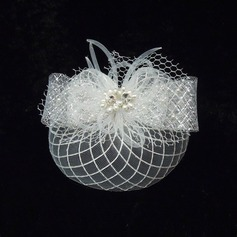Mode Strass/De faux pearl/Fil net Chapeaux de type fascinator