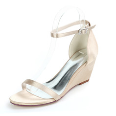 Women's Satin Low Heel Sandals With Others