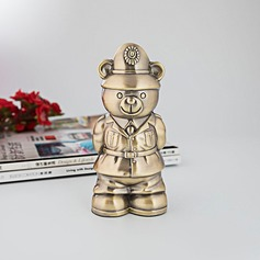 Golden Bear Officer Piggy Bank Birthday Present Valentine's Gift