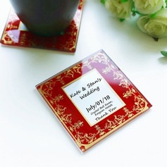 """Tea Time"" Square Glass Tea Party Favors"