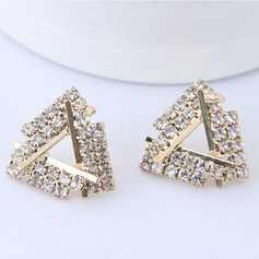 Shining Alloy Rhinestones With Rhinestone Women's Fashion Earrings