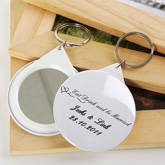 "Personalized ""Eat Drink and be Married "" Plastic Keychains/Compact Mirror"
