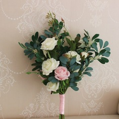 Hand-tied Silk Flower Decorations (Sold in a single piece) - Bridesmaid Bouquets