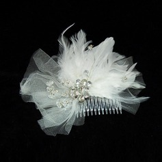 Amazing Feather/Tulle Flowers & Feathers
