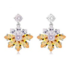 Exquisite Zircon Ladies' Fashion Earrings