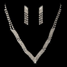 Alloy/Rhinestones Jewelry Sets