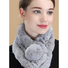 Solid Color Neck/simple/Cold weather Rex Rabbit Hair Scarf