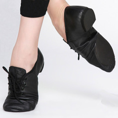 Women's Real Leather Jazz Dance Shoes (053123199)