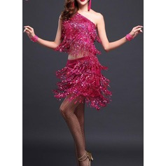 Women's Dancewear Polyester Latin Dance Outfits (115087953)