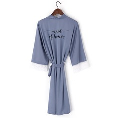 Non-personalized Lace Bridesmaid Lace Robes Embroidered Robes