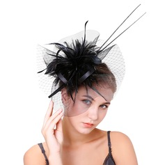Ladies' Elegant Feather/Net Yarn With Feather Fascinators