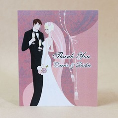 Personalized Bride And Groom Hard Card Paper Thank You Cards