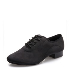 Men's Satin Latin Modern Ballroom With Lace-up Dance Shoes