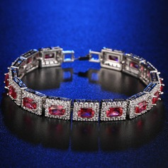 Unique Platinum Plated With Zircon Ladies' Fashion Bracelets (137144339)