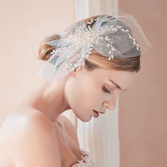 Lovely Imitation Pearls/Chiffon Tiaras