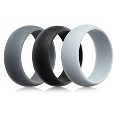 Modern Silicone Fashional Resin Fashion Rings (Set of 3) Gifts