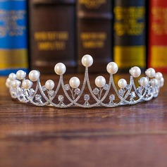 Ladies Simple Alloy/Imitation Pearls Tiaras