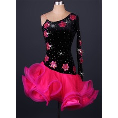 Women's Dancewear Velvet Organza Latin Dance Leotards