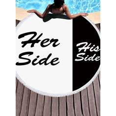 letter Oversized/round Beach towel