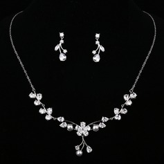 Elegant Zircon/Imitation Pearls With Imitation Pearls Ladies' Jewelry Sets