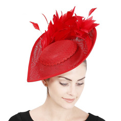 Damer' Enkel/Iögonfallande med Fjäder Fascinators/Kentucky Derby Hattar