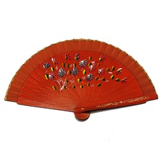 Floral Design Wooden Hand fan
