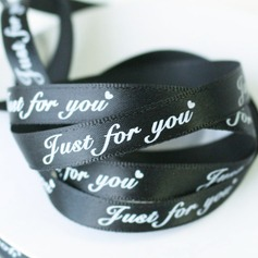 Black Width 2/5 Length 50Y - Just For You - Satin Ribbon Packaging Materials