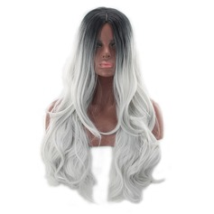 Wavy Synthetic Hair Synthetic Wigs 260g