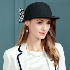 Ladies' Pretty Wool/Fabric With Bowknot Floppy Hat
