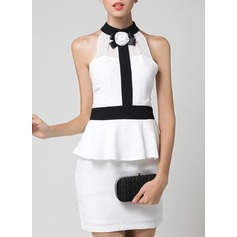 Polyester With Stitching/Ruffles Above Knee Dress (199140172)