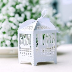 Swan design Cuboid Favor Boxes With Ribbons