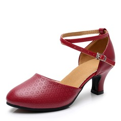 Women's Microfiber Leather Heels Latin Dance Shoes