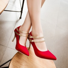 Women's Suede Stiletto Heel Pumps With Lace-up shoes