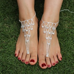 Rhinestone Alloy Foot Jewellery (Sold in a single piece) (107122402)
