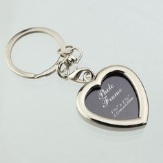 Personalized Heart Shaped Zinc Alloy Keychains/Photo Frame (Set of 6)