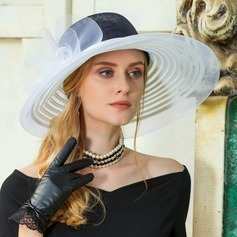Ladies' Glamourous Cambric Floppy Hat/Kentucky Derby Hats
