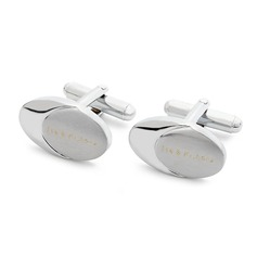 Personalized Oval Stainless Steel Cufflinks