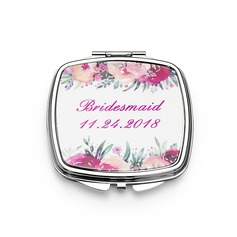 Bridesmaid Gifts - Personalized Fashion Stainless Steel Compact Mirror (256184476)