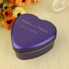 Personalized Heart Shaped Metal Favor Tin  (118031762)