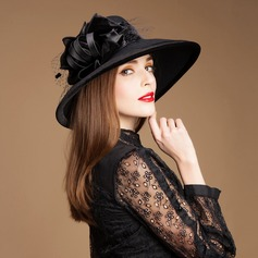 Ladies' Glamourous Wool With Tulle Bowler/Cloche Hat