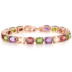 Unique Brass With Zircon Ladies' Fashion Bracelets