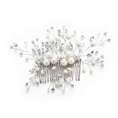 Ladies Glamourous Crystal/Imitation Pearls Combs & Barrettes With Venetian Pearl/Crystal (Sold in single piece)