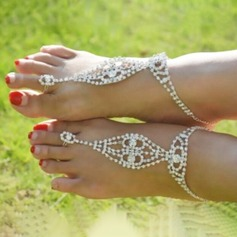 Rhinestone Alloy Foot Jewellery (Sold in a single piece) (107122414)