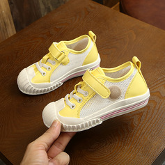 Jentas Round Toe Lukket Tå Mesh flat Heel Flate sko Sneakers & Athletic Flower Girl Shoes med Velcro Blondér
