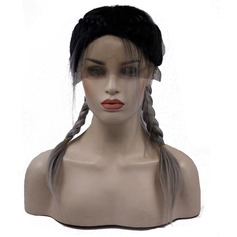 Straight Synthetic Hair Lace Front Wigs 350g