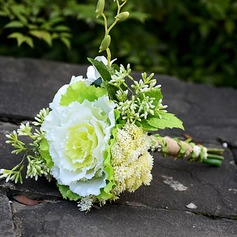 Gorgeous Free-Form Artificial Silk Bridal Bouquets
